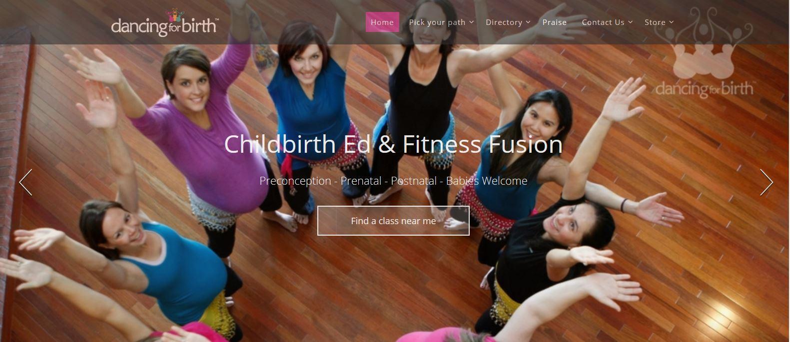 fitness website front page website design portfolio