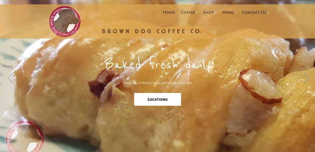 Brown Dog Coffee Website