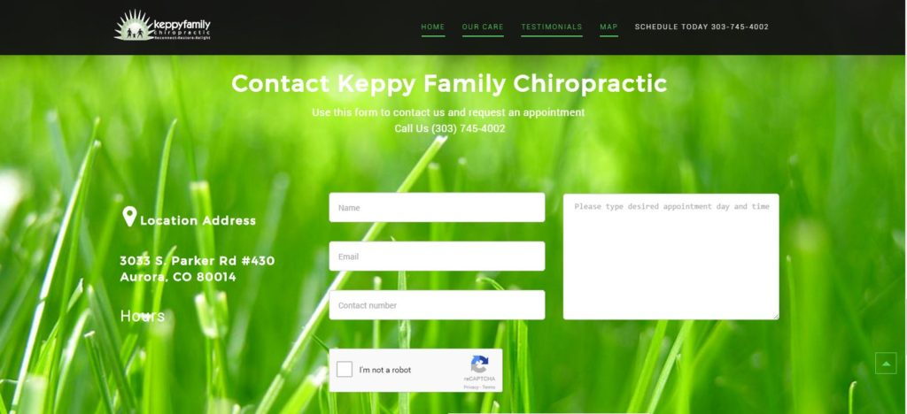 Keppy Family Chiropractic Website