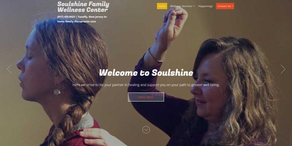 chiropractor website design front page